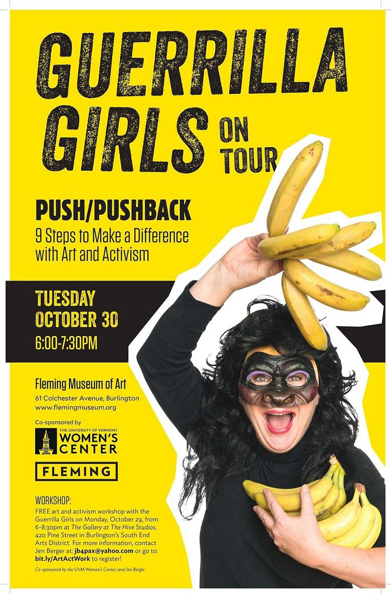 December 2018 Community News and Events, Guerrilla Girls on Tour